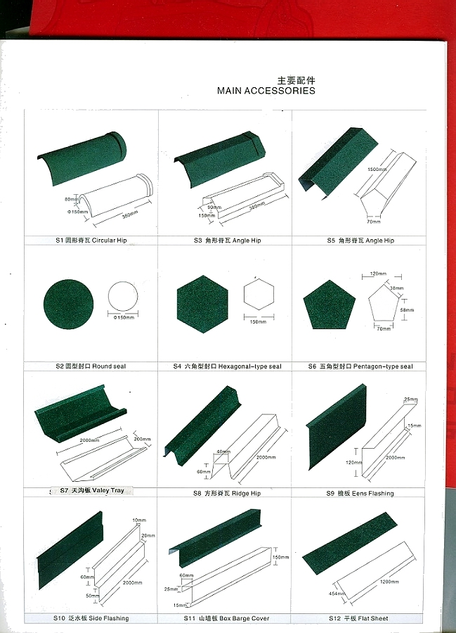 Stone coated steel roofing accessories our products stone for New roofing products